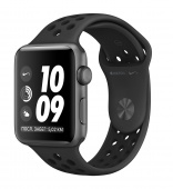 Умные часы Apple Watch Nike+ Series 3 38 мм Space Gray+Black
